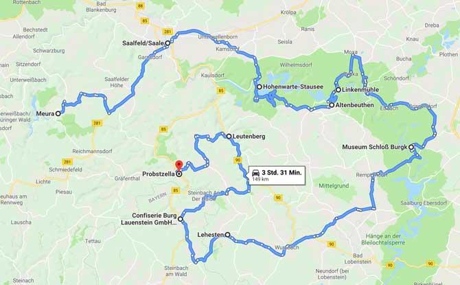 Anreise und Karte für deinen Urlaub im Schiefergebirge
