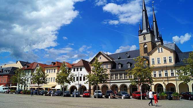 Marktplatz von Saalfeld
