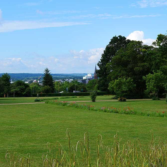 Ausblick vom Henkell Park auf Wiesbaden