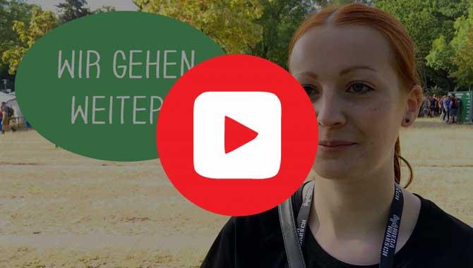 Sabrina vom Team Megamarsch geht gerne weiter