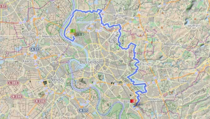 Megamarsch Düsseldorf Anreise und Parken