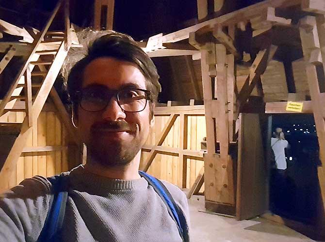 Ich während der Nachtwächter Führung in Osnabrück