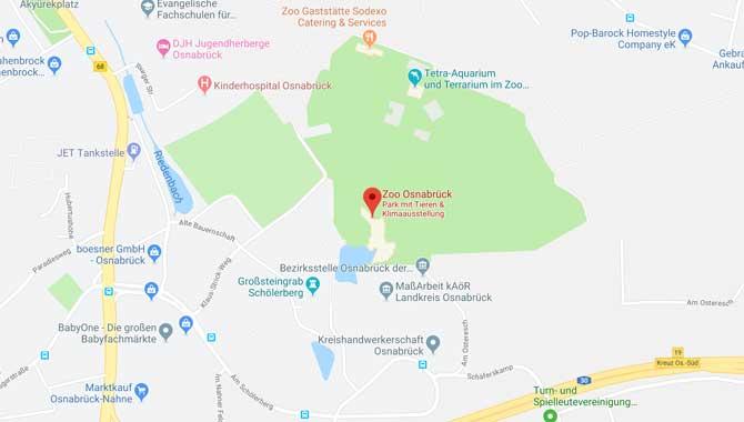 Lage und Anreise zum Osnabrücker Zoo