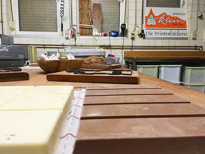 Werkstatt bei Printen Klein Aachen