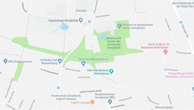 Botanischer Garten Osnabrück Anfahrt