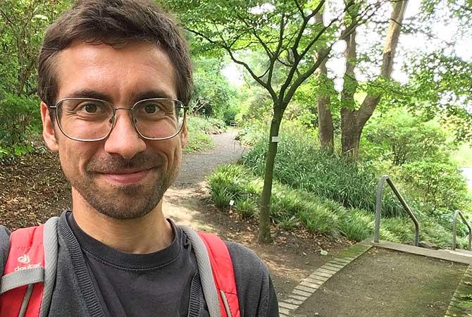 Ich mit Botanischer Garten Osnabrück