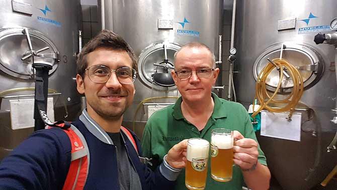 Ich und Andreas in der Brauerei Rampendahl in Osnabrück