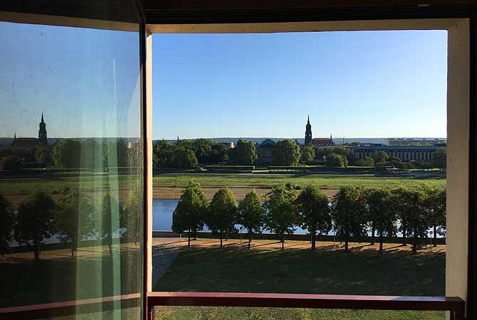 Ausblick Maritim Hotel Dresden