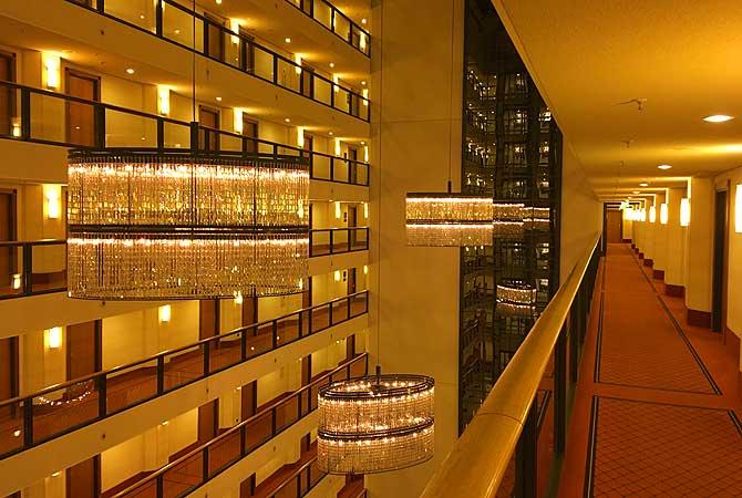 Prächtige Lobby Maritim Hotel Dresden