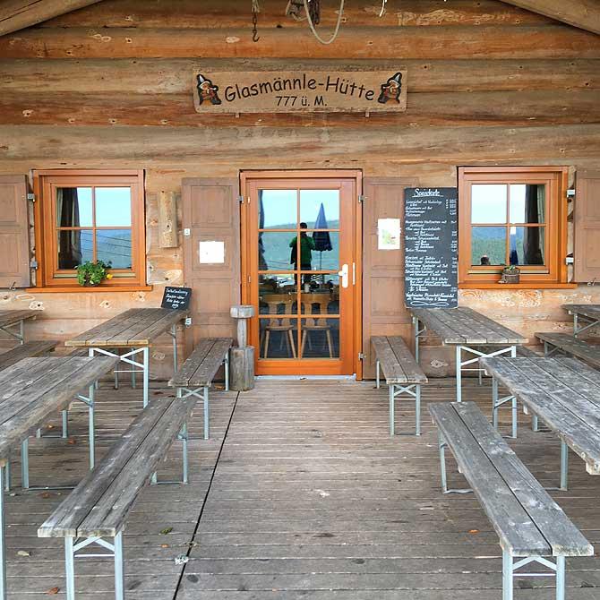 Eingang zur Glasmännle-Hütte