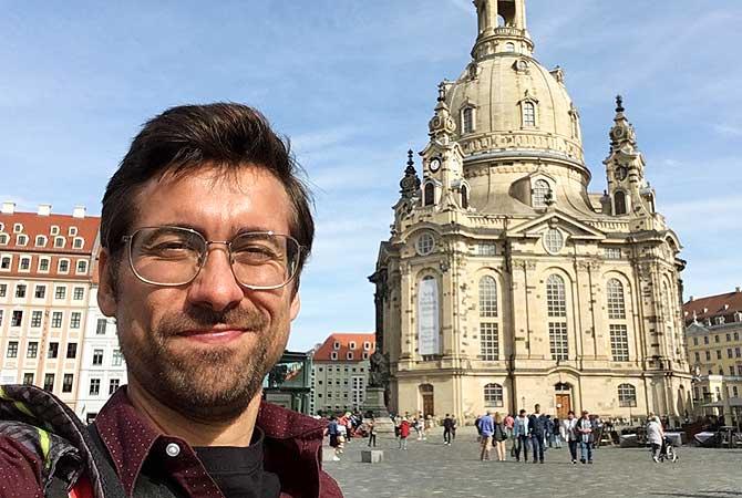 Ich vor der Frauenkirche Dresden