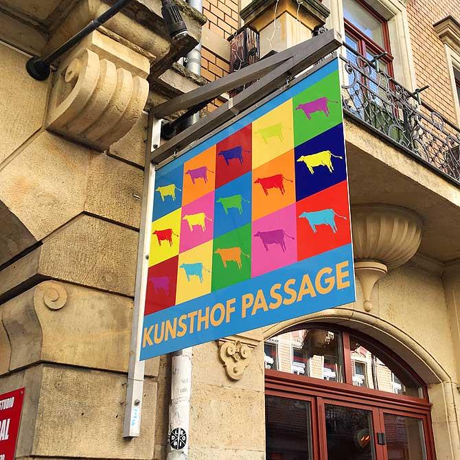 Eingang zum Kunsthof Dresden