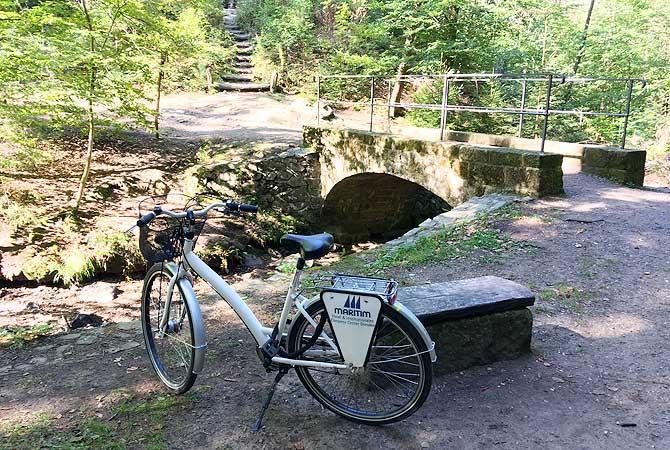 Mit dem Maritim Fahrrad zum Wasserfall