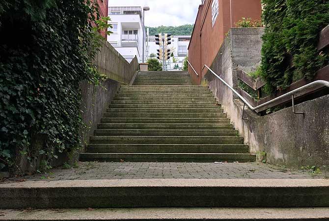 Viele Stufen und hoch hinaus