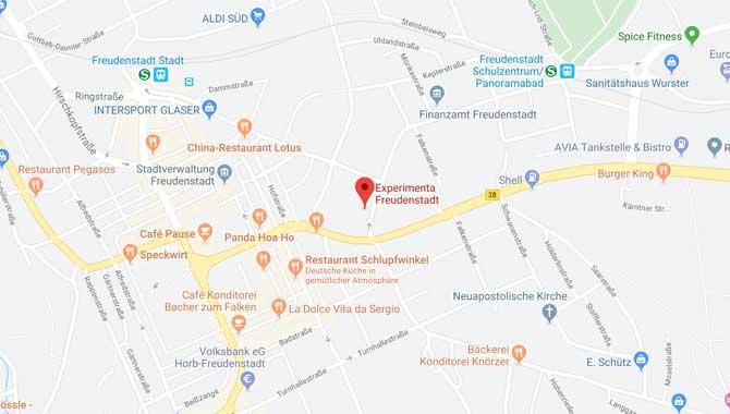 Anfahrt zur experimenta Freudenstadt