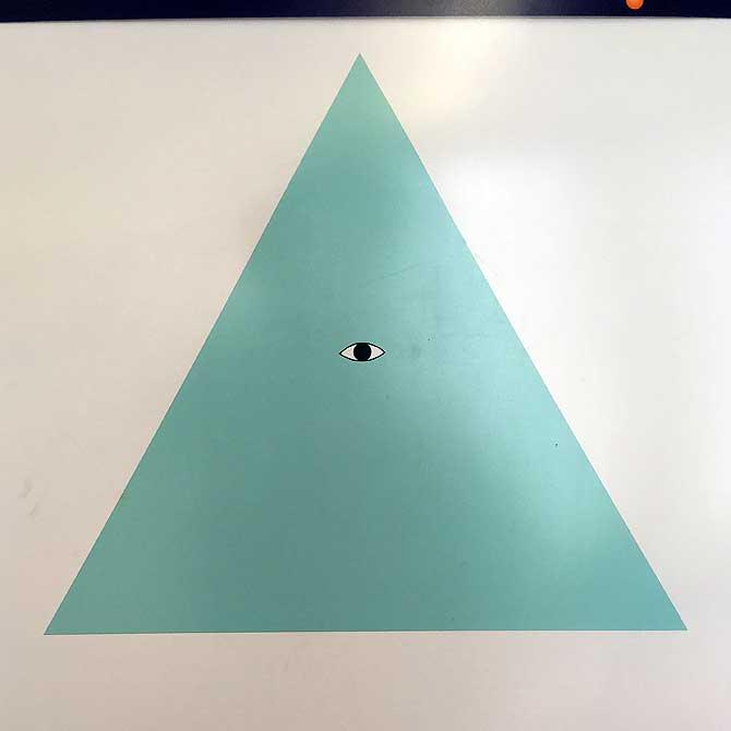 Dreieck mit Auge