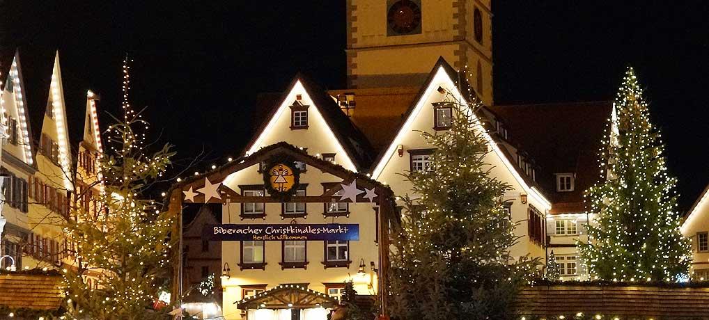 Der Biberacher Christkindlesmarkt zählt zu den schönsten Weihnachtsmärkten in Deutschland
