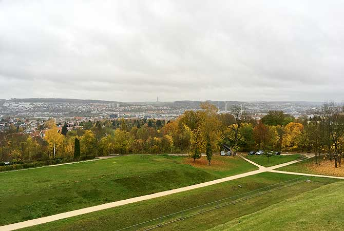Ausblick vom Oberer Kuhberg auf Ulm