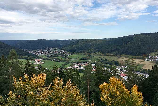 Panorama vom Rinkenturm Baiersbronn