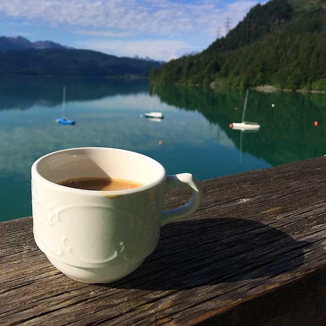 Kaffee mit guten Aussichten