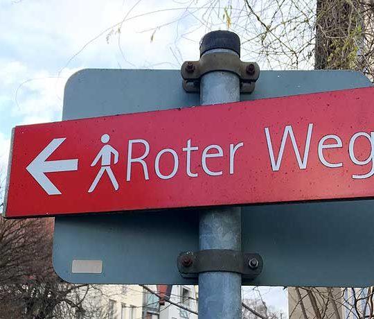 Auf dem Roten Weg in Memmingen