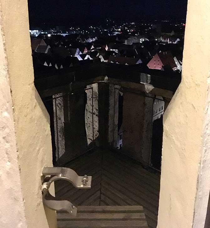 Vier Balkone zur Aussicht auf Memmingen
