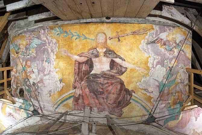 Gemälde bei der Turmführung in Memmingen