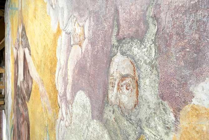 Wandgemälde mit Moses