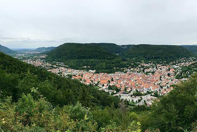 Panorama vom Hohenurachsteig