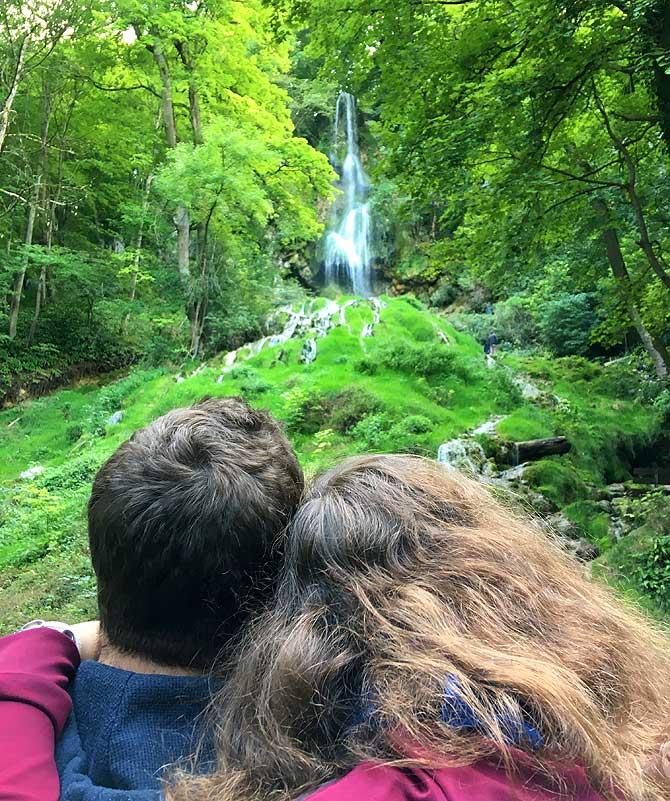 Liebe am Bad Uracher Wasserfall