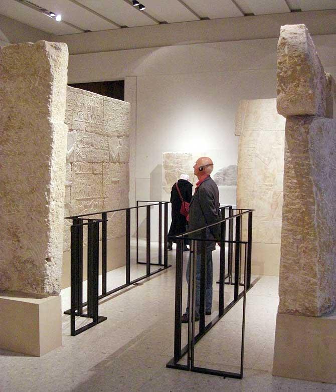 Inschriften in der Ägypten Ausstellung in Berlin