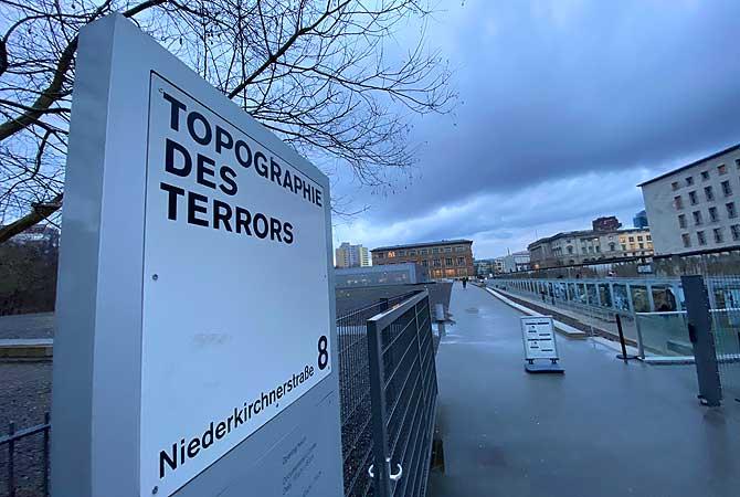 Eingang zur Topographie des Terrors Berlin