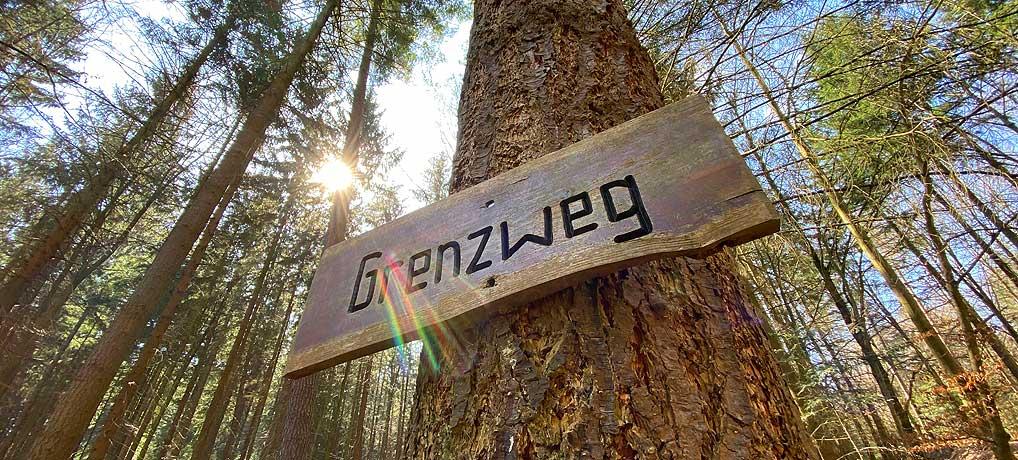 Die Wanderung um Hohenwart bei Pforzheim führt auch über den Grenzweg
