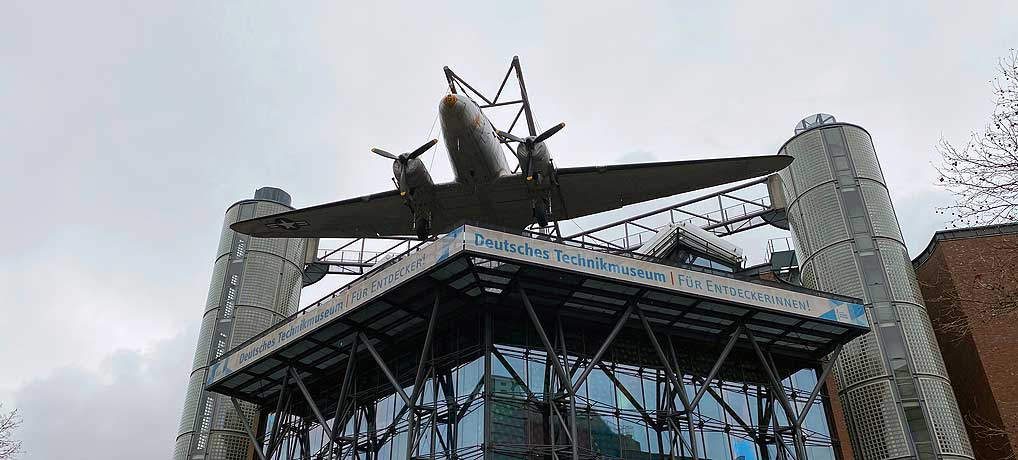 Das Deutsche Technikmuseum Berlin ist eine der top Sehenswürdigkeiten in Berlin