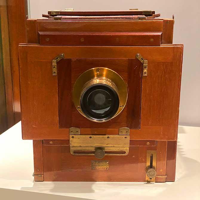 Reisekamera um 1900