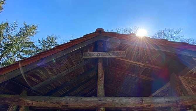 Hegarhütte bei der Wanderung um Hohenwart