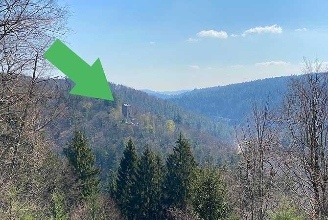 Ausblick auf Burg Liebeneck