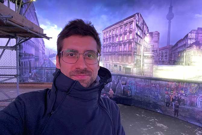 Ich im asisi Panorama Berlin alias Die Mauer