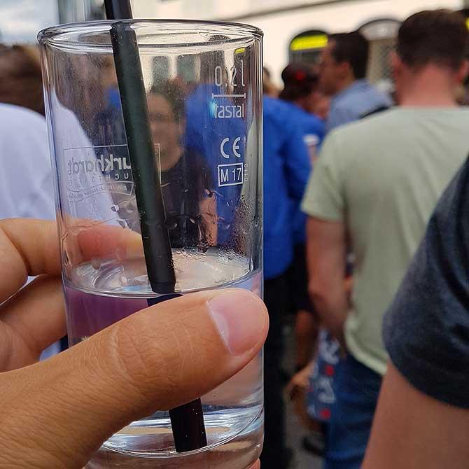 Auf dem Biberacher Schützenfest gibt es auch Wasser