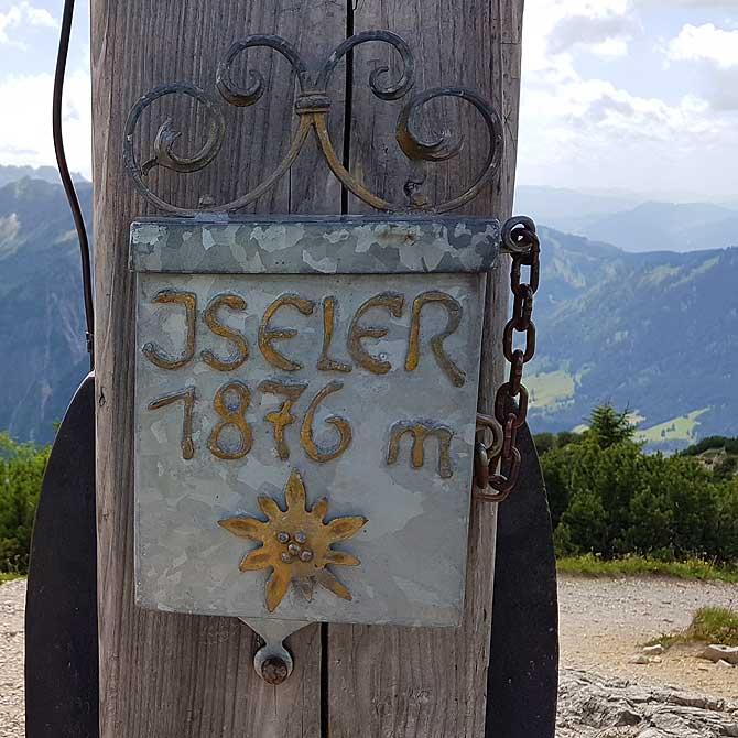 Berg Iseler Höhe 1.876 Meter
