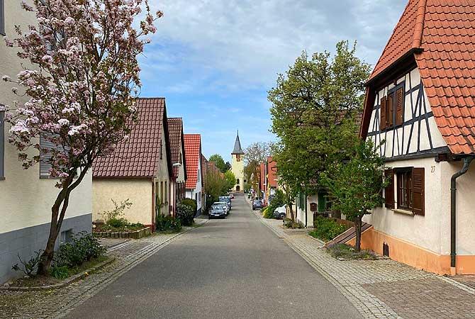 Freudensteiner Straße in Großvillars