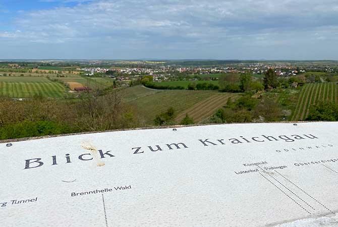 Blick zum Kraichgau Aussicht vom Derdinger Horn
