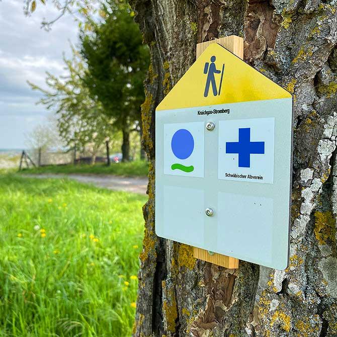 Wanderweg im Kraichgau Naturpark Stromberg Heuchelberg