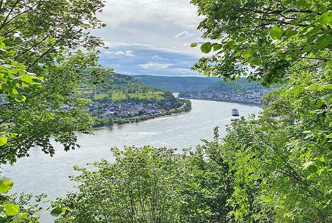 Blick auf den Rhein und Boppard