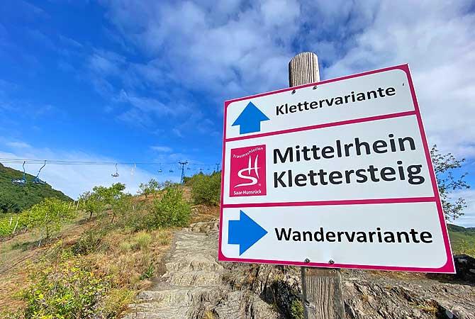 Wandern auf dem Mittelrhein-Klettersteig Boppard