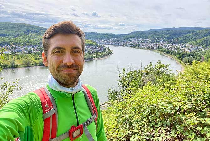 Dein Deutschland Reiseblog unterwegs auf dem Mittelrhein-Klettersteig mit Blick auf Boppard