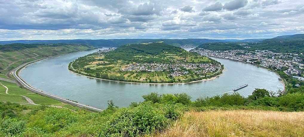 Der Mittelrhein-Klettersteig von Boppard führt dich auch zur Rheinschleife