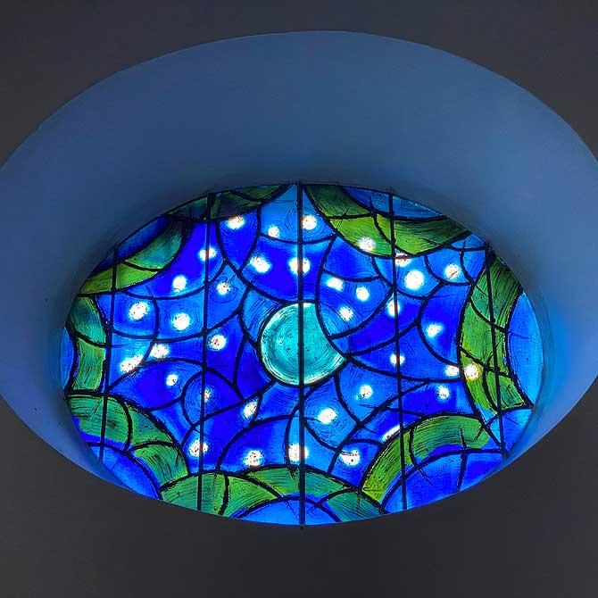 Blaue Chagall Fenster Mainz