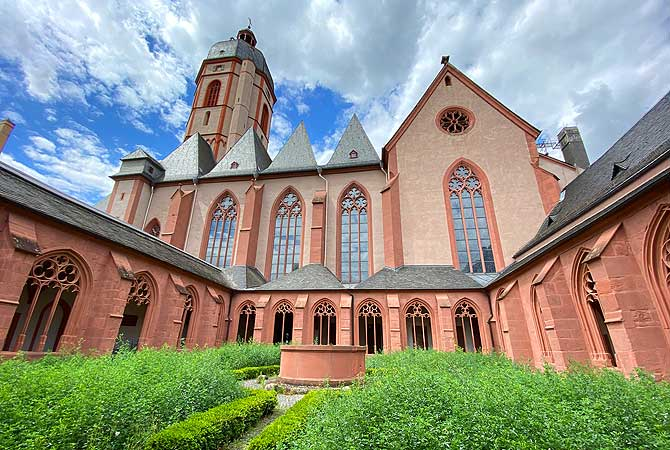 Sankt Stephan Kirche Mainz Garten innen