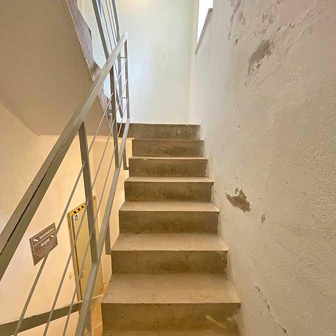Stufen der Treppe im Dobler Aussichtsturm